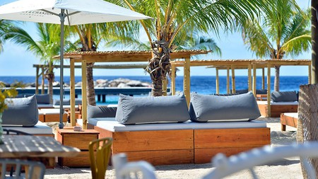 Van der Valk Kontiki Beach Resort's Mood Beach is a relaxing place to drink and have a bite to eat