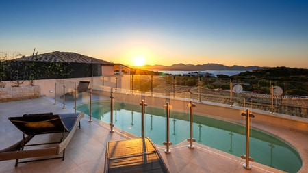Enjoy secluded pools, shaded pine forests and sandy pathways to the sea from your own private villa in Sardinia