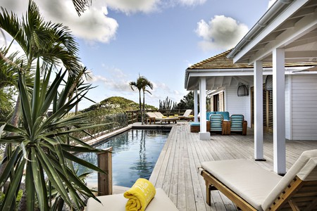 The suites at the Villa Marie on St Barts have their own plunge pool
