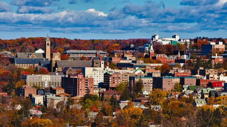 Ithaca, New York, is a charming town that's home to Cornell University and Ithaca College