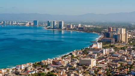 The beach city of Puerto Vallarta offers a number of top resorts along its coastline