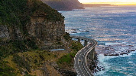 The view over Sea Cliff Bridge, Illawarra