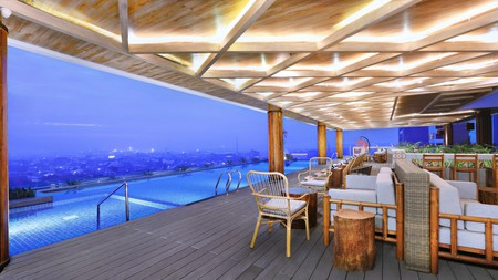 The Alts Hotel has an outdoor pool with sweeping views of Palembang