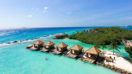 Try an outdoor treatment on this resort's private island, reached by free water taxi