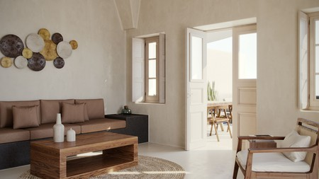 An airy spot to cool off at Andronis Boutique Hotel in Santorini