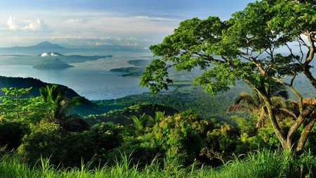 Many of the hotels in Tagaytay in the Philippines boast views of Taal Lake