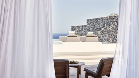 Tuck yourself away from the crowds at the Canaves Oia Epitome on Santorini