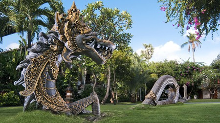 The Padma Resort Legian has colourful artwork and accessibility