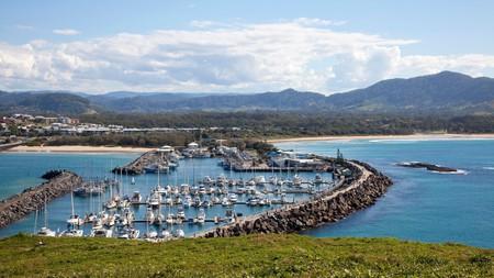 Coffs Harbour Marina from Muttonbird Island
