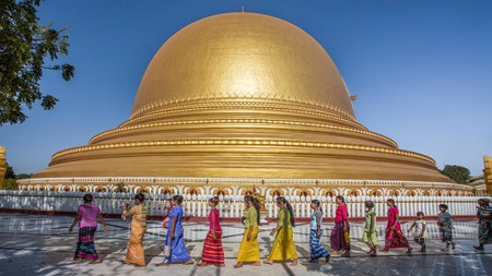 The Kaunghmudaw Pagoda just outside Mandalay