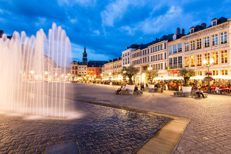 The Grand Place, Mons' central square at the heart of the historic old town