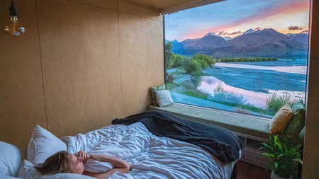 Take in the cinematic landscapes of New Zealand from hotels like Ecoscapes in Glenorchy
