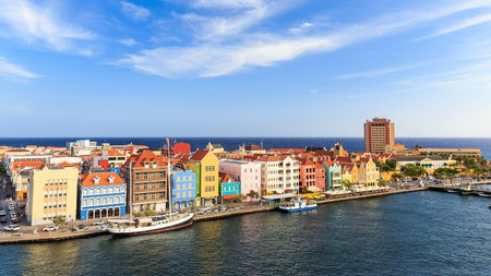 Willemstad, the capital of Curaçao, is a colorful destination in the Caribbean