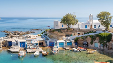 Mandraki village, on the island of Milos, is just one of many tranquil destinations in the Greek islands