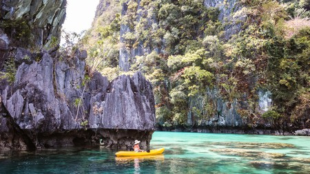 El Nido, in Palawan, is famed for its limestone cliffs, shimmering water and multicoloured coral reefs