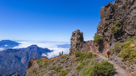 Enjoy the stunning views along the path from Pico de la Nieve to Roque de los Muchachos, Canary Islands