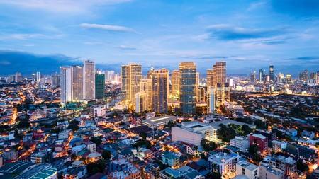 The skyline of Makati, Manila