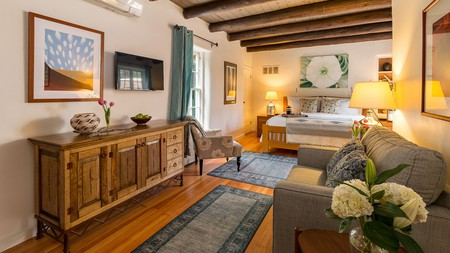 Discover a secluded slice of old Santa Fe within adobe walls