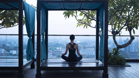 Relax and take in views of Medan at the city's Marriott Hotel