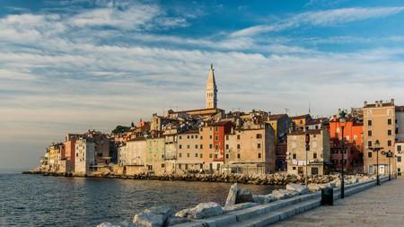 The fishing port of Rovinj on the Istria peninsula