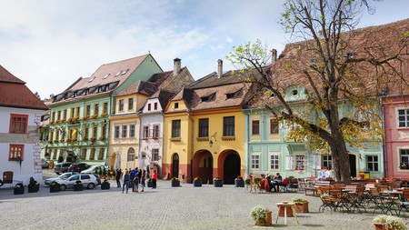 The historic streets of Sighisoara