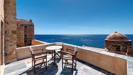 Enjoy stunning sea views and traditional architecture at the Malvasia, in Monemvasia