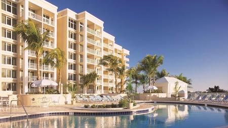 Soak up the sun at Marco Beach Ocean Resort's palm-fringed pool