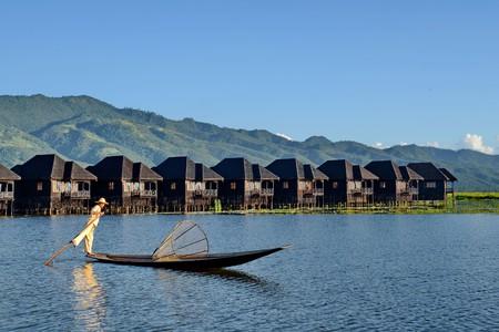 A fisherman near Myanmar Treasure Resort, Lake Inle