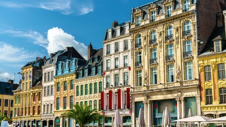 Traditional buildings in the old town of Lille