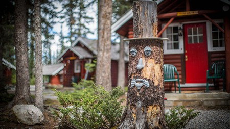 Enjoy mountain views at Paradise Lodge and Bungalows, one of many great cabin stays in Banff