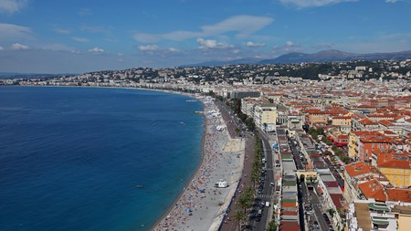The Promenade des Anglais in Nice, the great city of the French Riviera