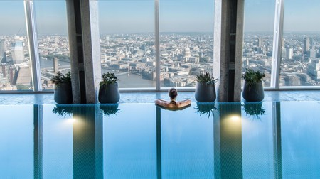 Some London hotels, such as the Shangri-La at the Shard, offer sweeping views with a relaxing swim
