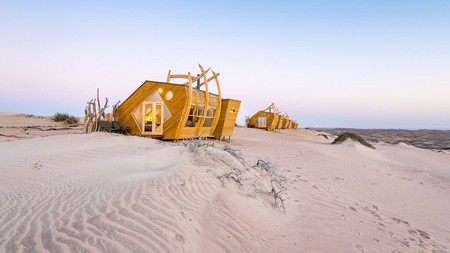 The best place to experience Namibia's Skeleton Coast is from your own lodge on the dunes