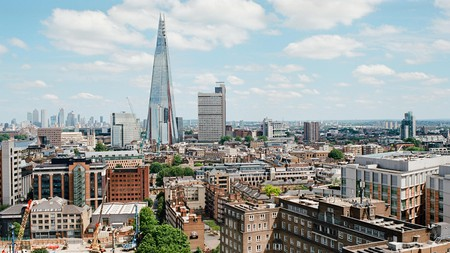 A view of The Shard in London, one of the landmarks of the capital's skyline