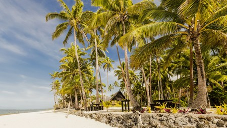 Palm-fringed white-sand beaches are yours to laze upon during your blissful escape from it all in Fiji