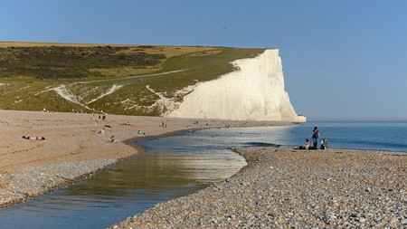 Cuckmere Haven, western end of the Seven Sisters cliffs in East Sussex