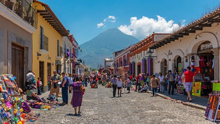 Take in views of the Agua volcano with a stay in the historic city of Antigua, Guatemala