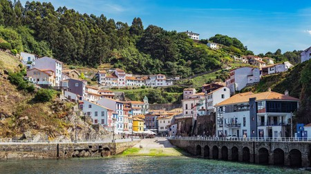 Picturesque fishing villages, such as Cudillero, are dotted along the coast of Asturias