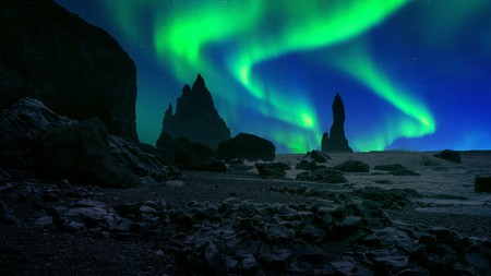 Vík is the southernmost village in Iceland and an excellent spot to watch the Northern Lights