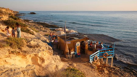 Chiringuito Bartolo is one of Formentera's cool cliffside hangouts
