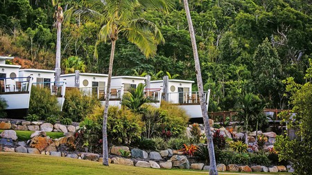 Airlie Beach has some unique accommodation, including boat bungalows at Freedom Shores