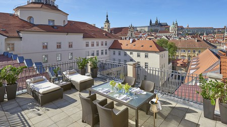 Look out to Prague Castle when you dine at the Mandarin Oriental