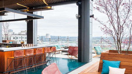 The rooftop bar at Noelle, a Tribute Portfolio Hotel in Nashville, America's Music City