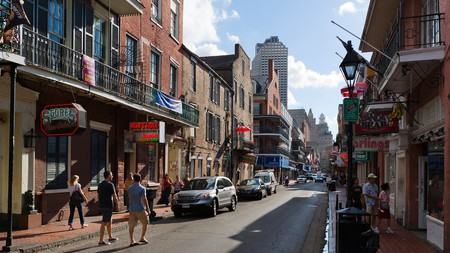 The iconic Bourbon Street in the French Quarter, an unmissable stop on any trip to New Orleans