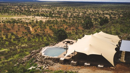 Habitas Namibia, overlooking a beautiful savannah, is one of our favourite new hotels