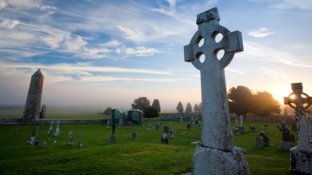 Many Irish names have a long history, if not longer, like the sixth-century Clonmacnoise monastic site in County Offaly, Ireland
