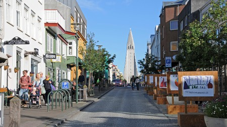 You can't miss the towering Hallgrímskirkja when visiting Reykjavík