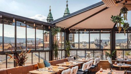 The Hotel Rum Budapest offers views across the city
