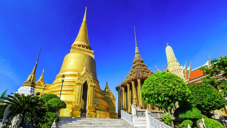 The Temple of Emerald Buddha, in Wat Phra Kaew, Bangkok