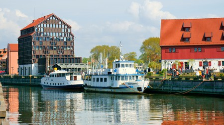 Strolling along the Danė River is a must on a visit to Klaipėda